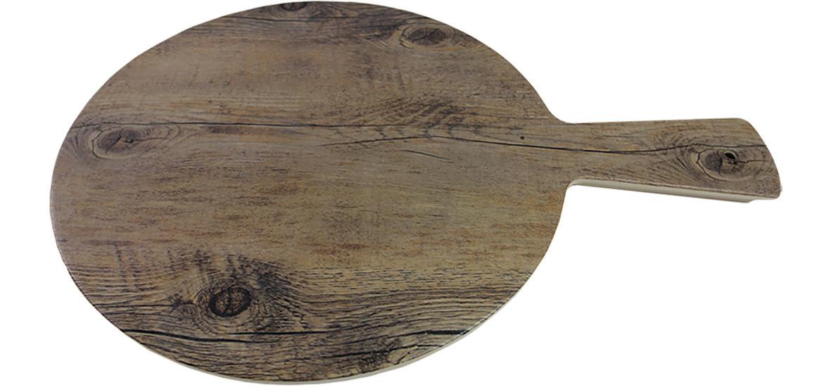 Driftwood, Servierbrett rund ø 380 mm mit Griff Holzoptik