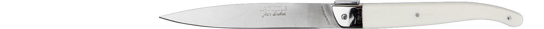 Laguiole Knives, Steakmesser Kunststoffgriff Ivory glatte Schneide