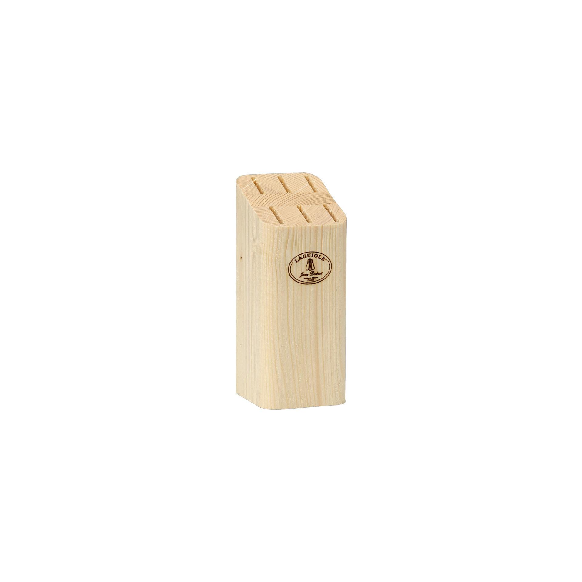 Laguiole Knives, Steakmesser Präsentation Block 58 x 53 x 129 mm Lightwood