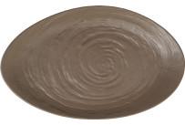 Scape Melamine, Platte oval 400 x 242 mm mushroom