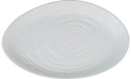 Scape Melamine, Platte oval 400 x 242 mm weiß