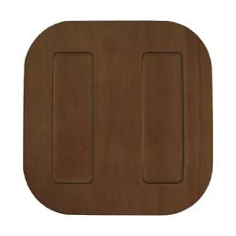 Taste, Tablett Tasters 300 x 300 mm dunkles Holz