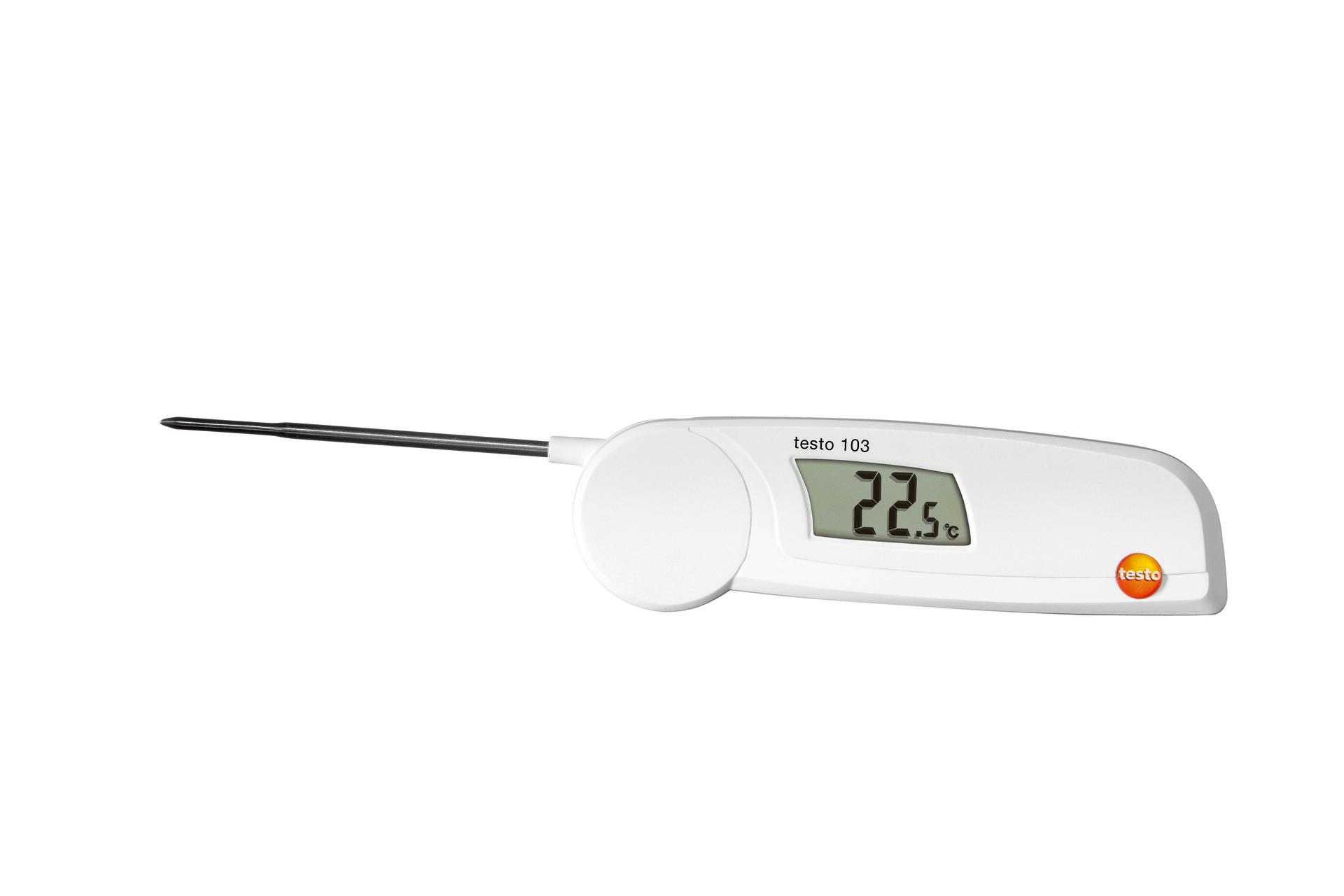 Einstech Thermometer Digital für Lebensmittel Edelstahlfühler für Kerntemperatur