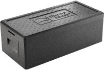 EPP-Box Menü mit Deckel 22,00 l / 630 x 300 x 225 mm / schwarz