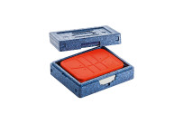 Hochisolierter Wärmesafe Dinner Champion I / 290 x 240 x 105 mm / blau