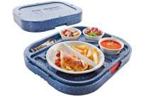 Hochisolierter Wärmesafe Dinner Champion rund / 475 x 395 x 130 mm / blau