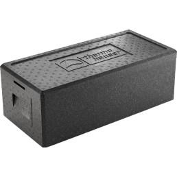 EPP-Box Menü mit Deckel 18,00 l / 630 x 300 x 205 mm / schwarz