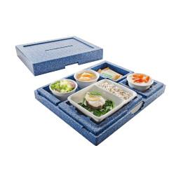 Hochisolierter Wärmesafe Dinner Champion III / 460 x 370 x 115 mm / blau