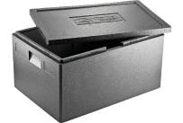 EPP-Box Universal mit Deckel 53,00 l / 685 x 485 x 260 mm / schwarz