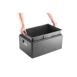 EPP-Box Inlay mit Deckel GN 1/1 / 48,50 l / 600 x 400 x 300 mm / schwarz