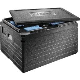 EPP Box Unistar 82,00 l / 695 x 495 x 360 mm schwarz mit Deckel