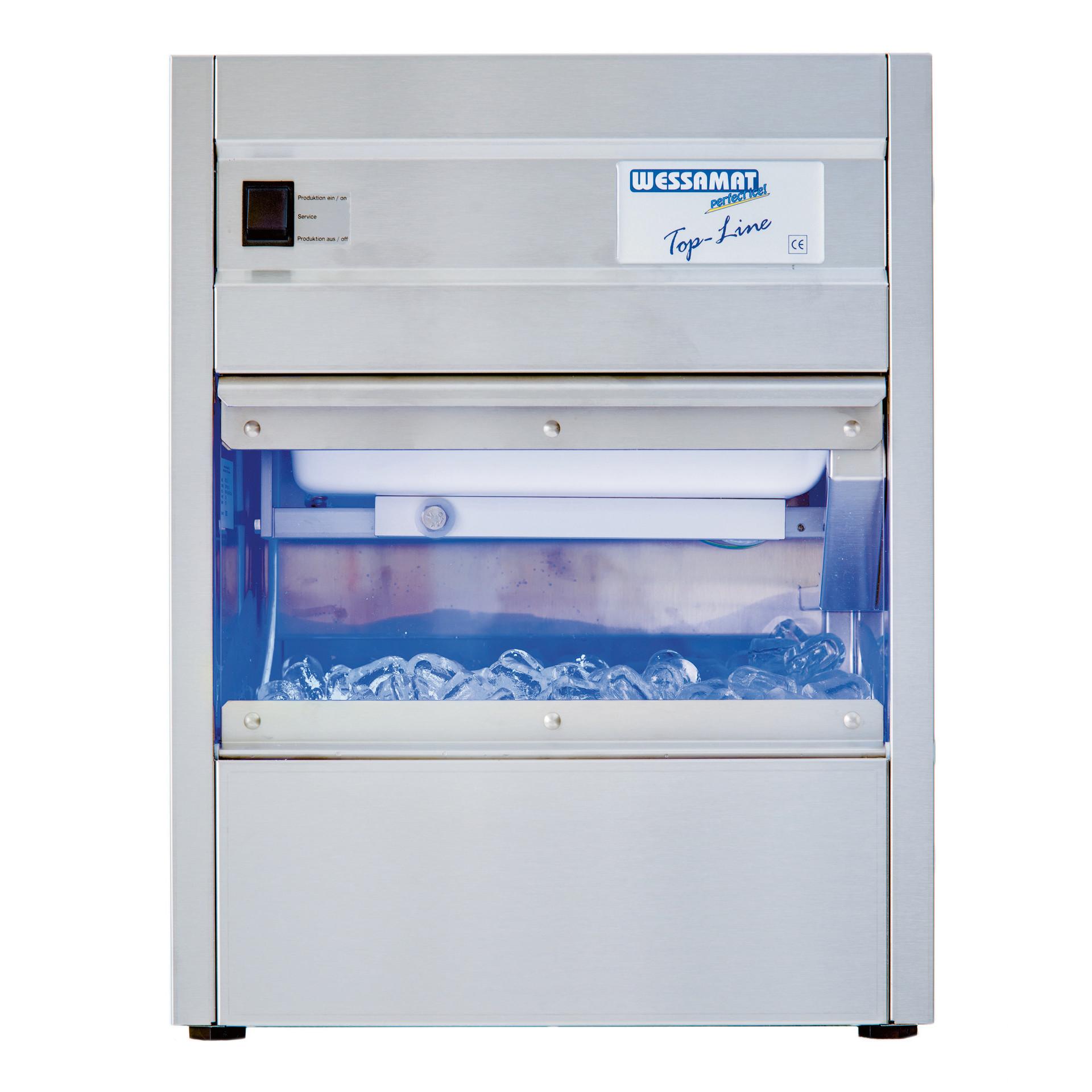 Eiswürfelbereiter W 21 L / 24,0 kg/24 h / 9,0 kg Vorrat / Luftkühlung