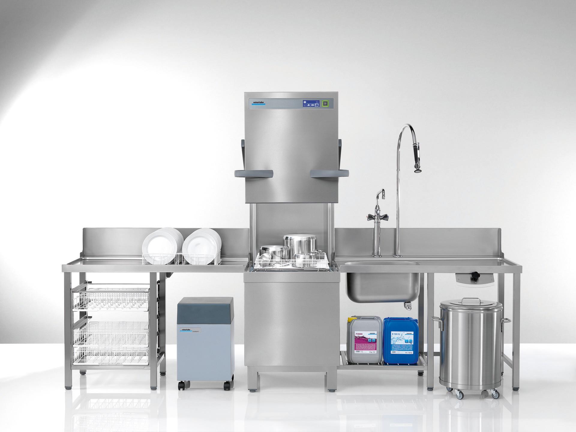 Durchschubspülmaschine PT-M / 500 x 500 mm / mit Sauglanzen / Energy Plus