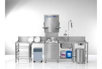 Durchschubspülmaschine PT-M / 500 x 500 mm / mit Enthärter + Sauglanzen