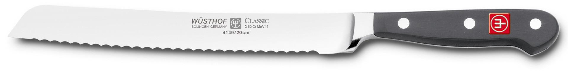 Classic, Brotmesser Klingenlänge 200 mm / 317 mm lang Wellenschliff