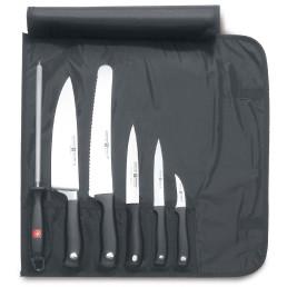 Kochmappe 430 mm mit 6 Teilen schwarz